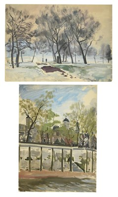 Lot 41 - Valerie Sozonov (1899-1960) British/Russian A view of the Tower of London from the Thames...