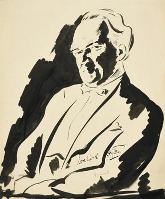 Lot 47 - Jacob Kramer (1892-1962) ''Walford Hyden'', half length portrait Signed in pencil, inscribed in...