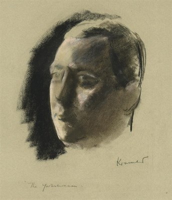 Lot 49 - Jacob Kramer (1892-1962) ''The Yorkshireman'' Signed and inscribed, charcoal and chalk,...