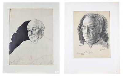 Lot 51 - Jacob Kramer (1892-1962) ''George Parker'', portrait study, head and shoulders Signed,...