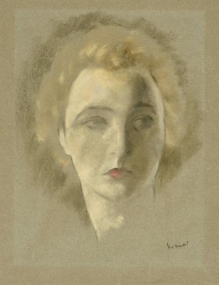 Lot 55 - Jacob Kramer (1892-1962) ''Portrait of a Tragedienne'' Signed, inscribed with the title in biro...