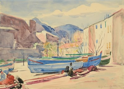 Lot 60 - Philip Naviasky (1894-1983) ''Collioure'', South of France Signed and inscribed, pencil and...
