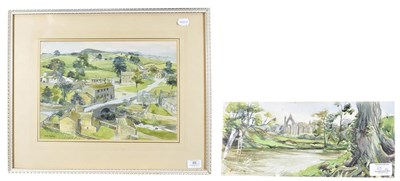 Lot 65 - Janet Rawlins (b.1931) ''Bolton Abbey'' Signed, inscribed verso, pencil and watercolour,...