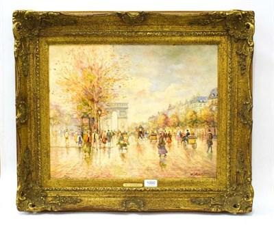 Lot 1000 - Morgan John Rendell (20th Century), Parisian Street scene, oil on board, 40cm by 50cm