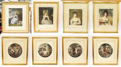 Lot 1014 - A quantity of decorative prints to include portraits after Joshua Reynolds and Thomas Lawrence (8)