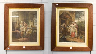 Lot 1021 - After F. Wheatley, ''Setting Out To The Fair'' & ''The Fairings'', a pair of coloured engravings by