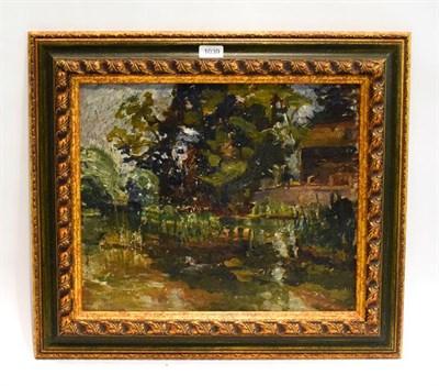 Lot 1039 - Alexander Jamieson (1873-1937) Scottish, ''Burnside, the studio - Weston Turville, Aylesbury'', oil