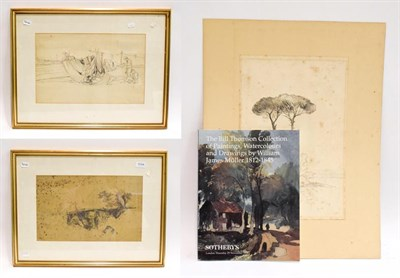 Lot 1044 - In the manner of William James Müller (1812-1845), three pencil sketches, unsigned (two...