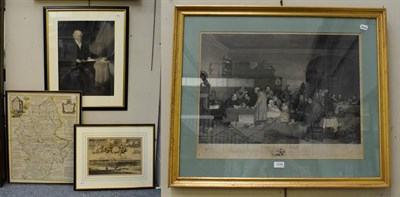 Lot 1048 - After David Wilkie, a 19th century print of the Rent Day, engraved from the original picture in the