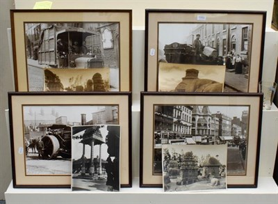 Lot 1052 - Four loose original monochrome photographs, four unframed depicting ancient buildings in India,...