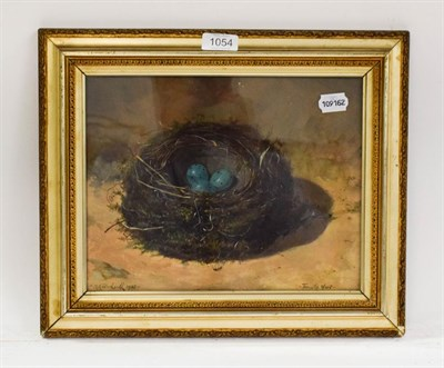 Lot 1054 - H H Birdsall, 'Thrustle Nest', oil, signed and dated 1905, 23cm by 30cm