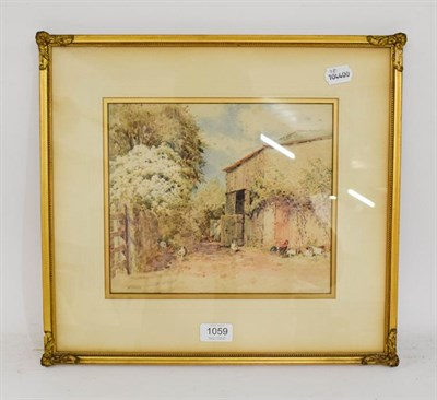 Lot 1059 - William Woodhouse (1857-1939) Farmyard scene, signed, watercolour, 22cm by 26cm