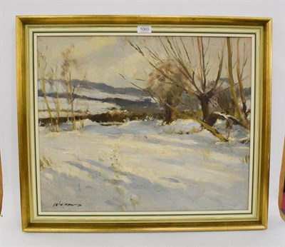 Lot 1060 - Edward Wesson (1910-1983) Snowscape, signed, oil on board, 49cm by 60cm