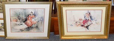 Lot 1061 - A pair of reproduction prints after Gordon King (2)