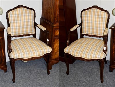 Lot 1080 - A pair of French style fauteils (2)