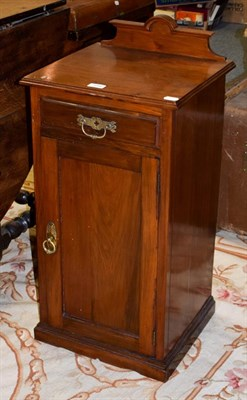 Lot 1090 - A late Victorian walnut bedside cabinet, 40cm by 36cm by 83cm high