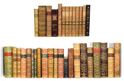Lot 22 - Bindings An attractive collection of books, eighteenth century and later, all in leather...