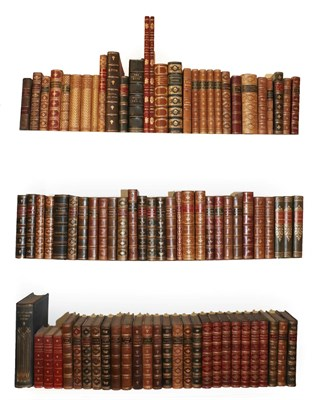 Lot 28 - Bindings A quantity of leather-bound books, calf and morocco  (qty)