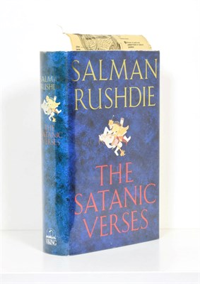 Lot 32 - Rushdie (Salman) The Satanic Verses, Viking, 1988, first edition, first printing, signed by the...