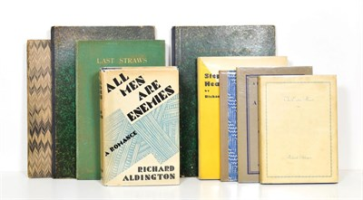 Lot 36 - Aldington (Richard) The Eaten Heart, Eure, Hours Press, 1929, numbered limited edition of 200,...