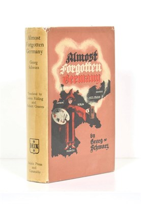 Lot 38 - Schwarz (Georg) Almost Forgotten Germany, Seizin Press and Constable, 1939, first edition,...
