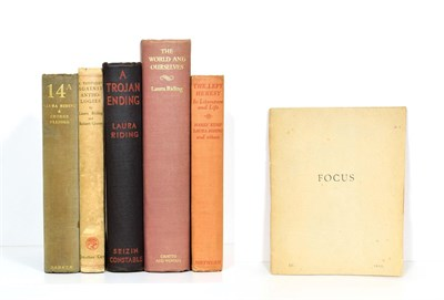 Lot 43 - Riding (Laura) & Ellidge (George) 14A, Arthur Barker, 1934, first edition, original cloth...