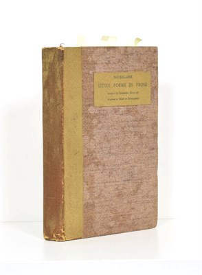 Lot 46 - Baudelaire (Charles) Little Poems in Prose, translated by Aleister Crowley, Paris: Edward W. Titus