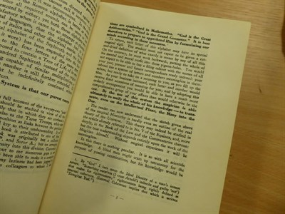 Lot 47 - 'The Master Therion (Aleister Crowley) Magick, In Theory and Practice, published for...