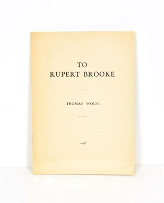 Lot 49 - Wolfe (Thomas) To Rupert Brooke, Paris: Lecram Press, 1948, numbered limited edition of 100 copies
