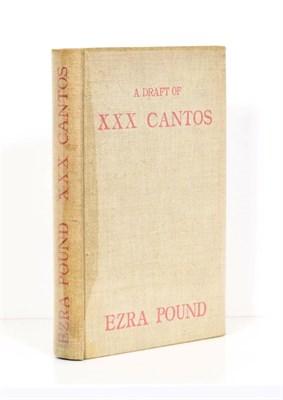 Lot 59 - Pound (Ezra) edit. A Draft of XXX Cantos by Ezra Pound, Paris: Hours Press, 1930, numbered...