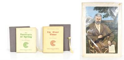 Lot 61 - Hemingway (Ernest) The Torrents of Spring, Paris: Crosby Continental Editions, 1932, original...