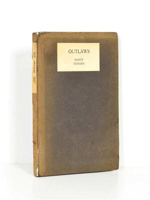Lot 67 - Cunard (Nancy) Outlaws, Elkin Mathews, 1921, first edition, original boards (wear to spine)