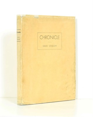 Lot 70 - Onslow (David)  [pseud. for Eric Partridge] Chronicle, private printing, no date, numbered...