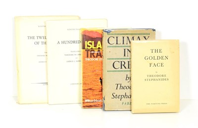 Lot 72 - Stephanides (Theodore) Climax in Crete, Faber and Faber, 1946, first edition, dust wrapper;...