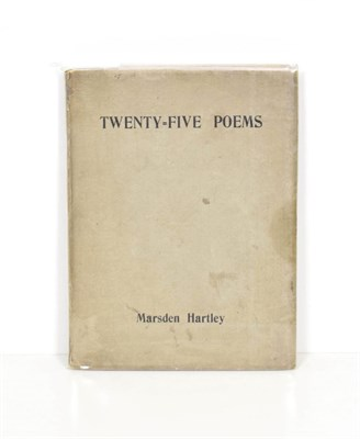 Lot 82 - Hartley (Marsden) Twenty-Five Poems, Paris: Contact Publishing, 1923, unopened and unsigned,...