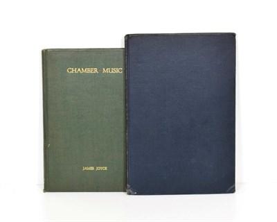 Lot 86 - Joyce (James) Chamber Music, The Egoist Press, 1923, third edition, original cloth; with a 1927...