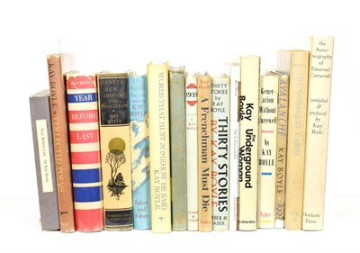 Lot 93 - Boyle (Kay) Year Before Last, Paris and New York: Crosby Continental and Smith Haas, 1932, author's