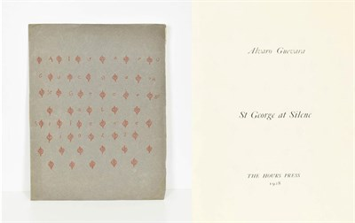 Lot 94 - Guevara (Alvaro) St George at Silene, Paris: The Hours Press, 1928, numbered limited edition of...