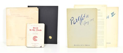 Lot 95 - Black Sun Press Crosby (Caresse) designed by, Portfolio [V], Paris: Black Sun Press, 1947,...