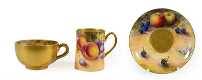 Lot 40 - A Royal Worcester Cabinet Cup and Saucer, by Reginald Austin and William Ricketts, 1923 and...