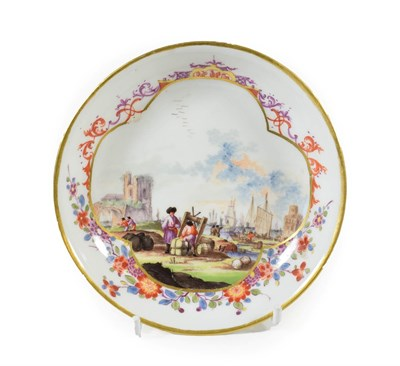 Lot 47 - A Meissen Porcelain Saucer, circa 1730, painted in the manner of Christian Friedrich Herold...