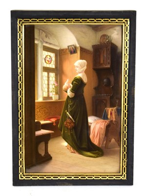 Lot 56 - A KPM Berlin Porcelain Plaque, late 19th century, painted with a mother and child in a...