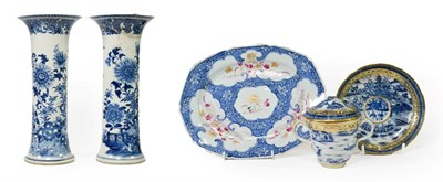 Lot 87 - ~ A Chinese Porcelain Smaller Platter, Qianlong, of shaped rectangular form, painted in famille...