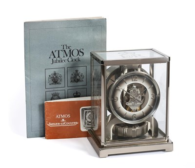 Lot 403 - A Limited Edition Atmos Clock to Celebrate Silver Jubilee of Her Majesty Queen Elizabeth II, signed