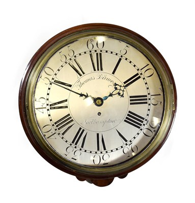 Lot 412 - A Wall Timepiece with Passing Strike, signed Thomas Dawes, Northampton, circa 1760, oak and...