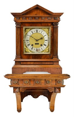 Lot 415 - A Walnut Quarter Striking Bracket Clock with Bracket, signed Lenzkirch, circa 1900,...
