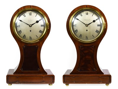 Lot 417 - A Rare and Unusual Pair of Mahogany Directors/Library Timepieces, signed Arnold & Lewis,...