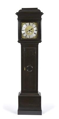 Lot 423 - An Ebonised Eight Day Longcase Clock, signed Blackburn, Oakham, No.1146, circa 1740, caddy...
