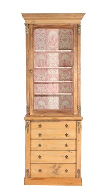 Lot 462 - A Victorian Glazed Pine Bookcase, 3rd quarter 19th century, the top probably associated, the...