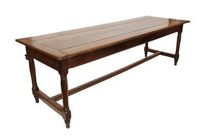 Lot 469 - A Good Early 18th Century Joined Oak Refectory Style Dining Table, the four-plank top with...